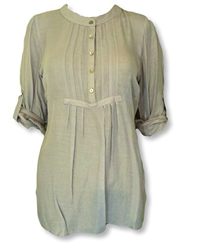 womens-ex-stock-bon-marche-pintuck-collarless-shirt-blouse-turn-up-sleeves18