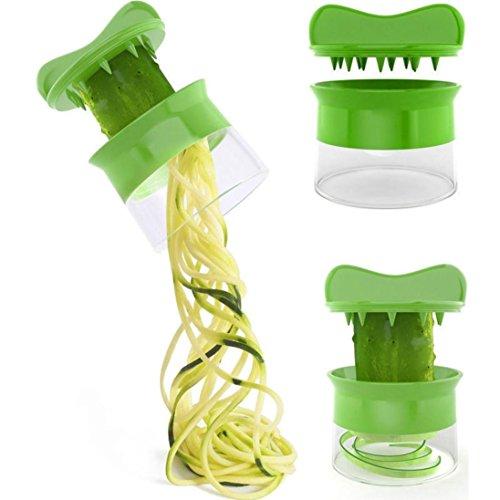 TWIFER Spiralschneider Hand für Gemüsespaghetti kartoffel, Zucchini Spargelschäler, Gurkenschneider, Gurkenschäler , Möhrenreibe Möhrenschäler, Gemüsehobel