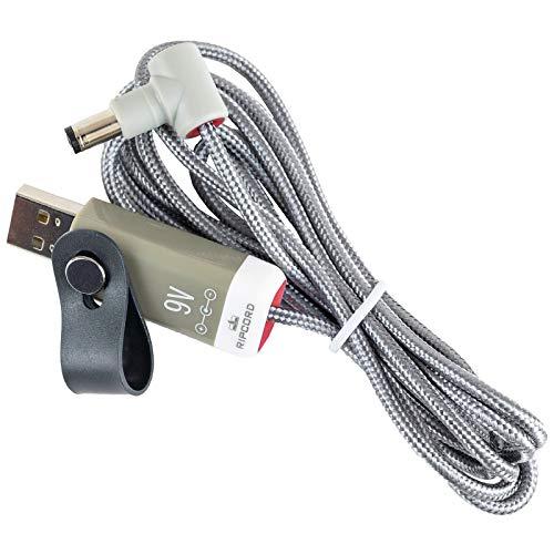 MyVolts Ripcord-USB-Ladekabel mit 9V DC Ausgangsstecker kompatibel mit Boss PQ-3B Effektpedal 2135 Usb