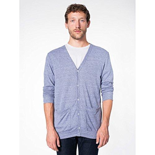 american-apparel-cardigan-scollato-a-v-unisex-s-grigio