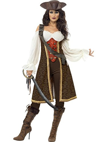 Blackbeard Kostüm Ideen (Damen Deluxe, Piratin, Maid Karibik Kostüm Größen Med und)