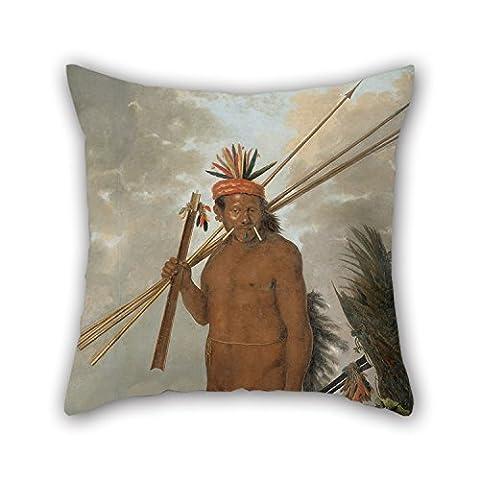 Loveloveu Oil Painting Albert Eckhout - Tarairiu Man Pillow case/Kissenbezüge ,best For Kids Boys,adults,gril Friend,bedding,car,wife 18 X 18 Inches / 45 By 45 Cm(twin Sides)