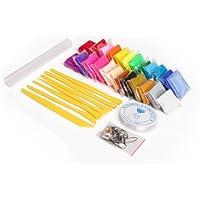 24 Farben Polymer Ton Clay Ofen & Modellierung Modellierwerkzeug Perlenfaden Rollstab Figur DIY Basteln Scrapbooking