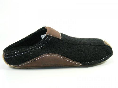 Haflinger Pocahontas 411001 Unisex-Erwachsene Pantoffeln Schwarz