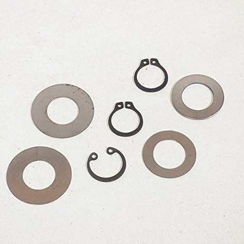 Rondelles de calage inox de poulie clips d'axe de pédalier
