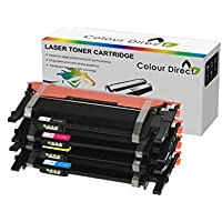 Full Set Colour Direct Compatible Toner Cartridge Replacement For Samsung P404C CLT-P404C CLT-K404S/C404S/M404S/Y404S Samsung Xpress SL-C430W, SL-C480FW AND SL-C480W Printers. 1,000 Pages Yield. (1 X Black, 1 X Cyan, 1 X Magenta, 1 X Yellow)