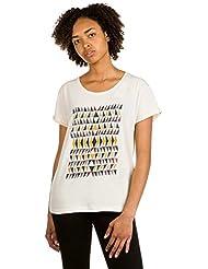Roxy Damen Tee Boyfriend Wallpaper Geo-T-Shirt