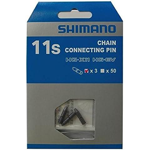 Shimano Y0Ah98030 Perni Catena, Nero, 11 Velocità