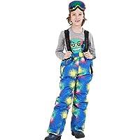 Delicacydex Niños Niños Invierno Cálido Al Aire Libre Pantalones de esquí Impermeables Baberos Pantalones de Nieve