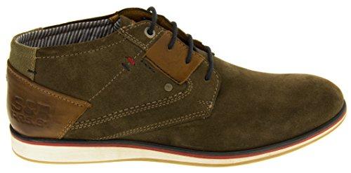 S.oliver Desert Boots Hommes bottes en daim réel du désert Hommes Bottes Bottines en cuir Marron