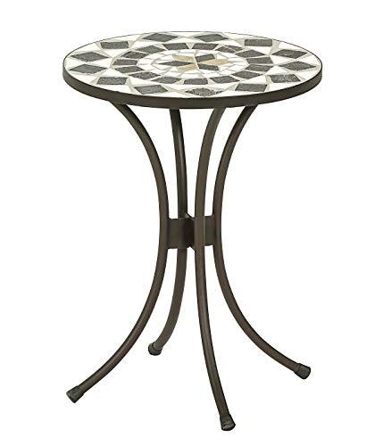 Dehner Blumenhocker Diana, Ø 41 cm, Höhe 54 cm, Metall, mosaikoptik, braun/grau/weiß
