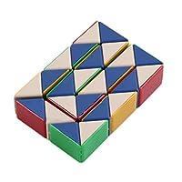 BIYI Magic Snake Twist Puzzle Shape Changing Magic Ruler Portable Intelligence IQ Toy Durable Children Educational Toys (multicolor)
