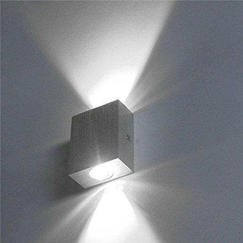 n Wandlampe Flur Wohnzimmer Wandleuchte Innen Design Aluminum Wandleuchten up down Leuchten - Weiß (Up-leuchten)