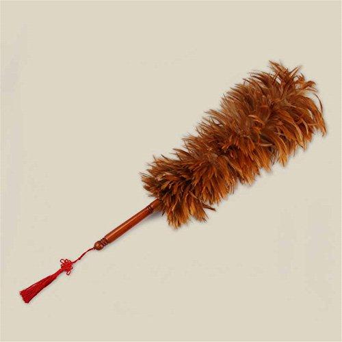 L Y Hahn Huhn Feather Duster | Hausreinigung, Autoreinigung | Bürste Für Staub | Dusters Zu Hause Reinigen Staubwedel mit Echtem Holzgriff | Umweltfreundlicher, Einfach Zu Reinigender Staub,57Cm (Einfach Kostüme Zu Machen)