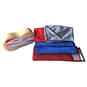IWH A003030 Autopflege-Set mit Tüchern für professionelle Fahrzeugwäsche