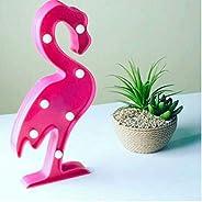 Flamingo Ledli Pilli Dekoratif Masa Duvar ve Gece Aydınlatma Lambası