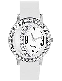 Shree Enterprise Watch With White Dial & Belt | Attractive Look | Casual | Suitable For Girls & Women | Stylish
