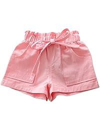 Pantalones cortos para niñas, bbsmile verano los niños suave comodidad algodón pantalón corto para bebé niña moda deporte pantalones