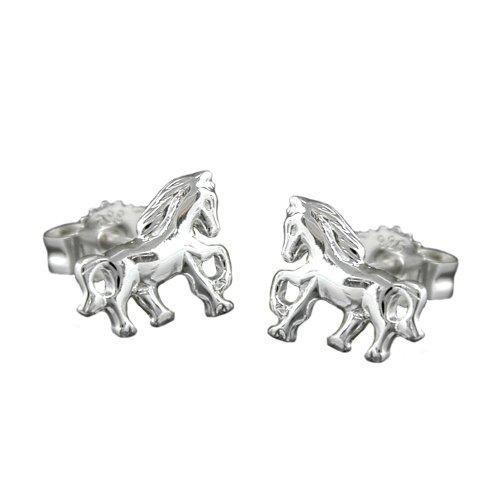 Ohrstecker Pferd für Mädchen 925 Silber