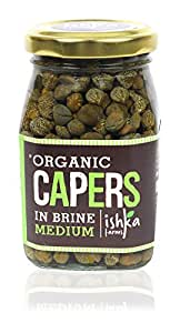 Ishka Farms Capers in Brine Medium, 200 grams