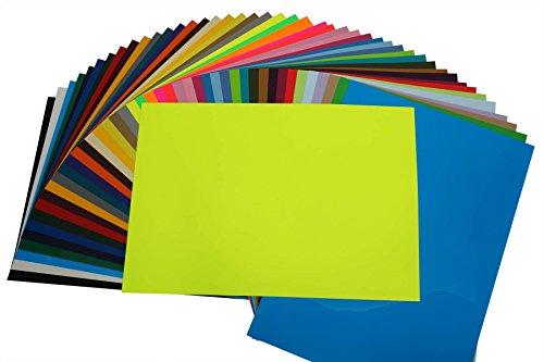 (40,16EUR/m²) PremiumFlex Plotterfolie DIN A4 Textil-Bügelfolie, /:NEON-Gelb (Text Gelben T-shirt)