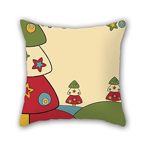 artistdecor Cartoon Überwurf Weihnachten Kissen Fall Best für Seat Study Room Club Kids Jungen Liegestuhl Sohn 40,6x 40,6cm/40von 40cm (Zwei Seiten)