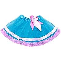 FENICAL Falda del tutú de la Malla de Las Muchachas decoración del Arco Niños Falda del Baile Falda del Funcionamiento de los Cabritos para 3-8Y (Azul Marino)