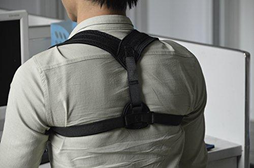 Corrector ajustable para la espalda, corrector de postura de apoyo para la lesión de clavícula, hombro, brazo y cuello, corrector para enderezar la parte superior de la espalda, cuello y alivio del dolor torácico para hombres o mujeres