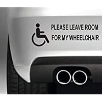 South Coast Stickers Please Leave Room For My Wheelchair STICKER FUNNY BUMPER STICKER CAR VAN 4X4 WINDOW PAINTWORK DECAL EURO LAPTOP DRIVE