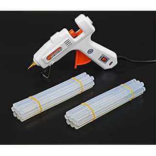 Abaobao-Mini Hot Melt Glue Gun with 20pcs Glue Sticks ,30 W High Temperature Melting Glue Gun Kit-Rapid Heating,Easy Control Switch and Flexible Trigger for DIY,School Projects/ Home/ Arts/ Crafts/ Sealing and Quick Repairs