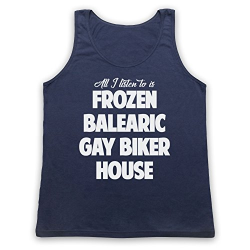 Frozen Balearic Gay Biker House Niche Dance Music Tank-Top Weste Ultramarinblau