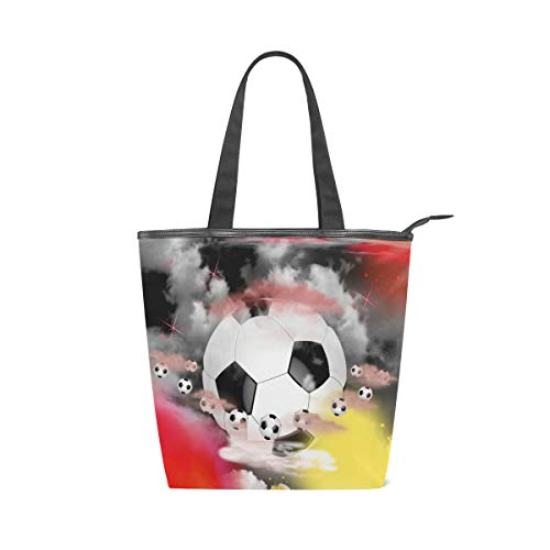 LAZEN Stilvolle Leinwand Tote Bag Handtasche 14 x 4,5 x 15 Zoll niedlichen Fußball Orgie