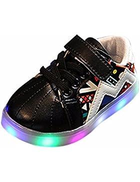 Kinder Jungen Mädchen LED Leuchten Leucht Turnschuhe Schuhe Sport Flash Schuhe Gummi Rutschfeste Schuhe kinder...