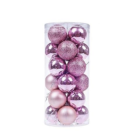 niceEshop(TM) 24 Pcs Boules de Noël en Plastique pour la
