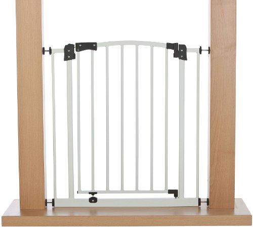 Impag Türschutzgitter Treppenschutzgitter 62 – 222 cm selbstschließend – zum Klemmen – ohne Bohren Swing + 20 Weiß - 2