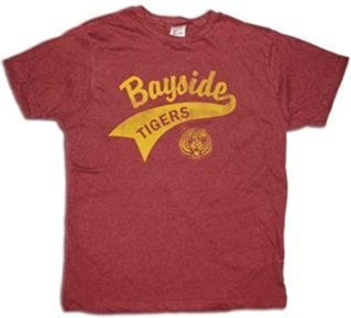 Saved By the Bell Bayside Tigers Maroon Vintage T-Shirt (XX-Large) -