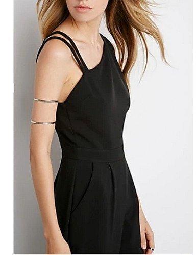 GSP-Combinaison ( Polyester ) Sexy/Informel Epaule asymétrique à Sans manche pour Femme s-black