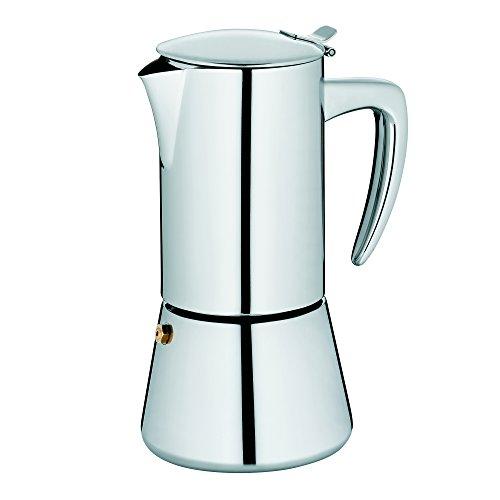 Kela 10836 Espressokanne, 6 Tassen, 300 ml, Induktionsgeeignet, Edelstahl, Latina