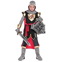 Boys Medieval Lord Tudor King Knight Fancy Dress Up Costume Book Week Outfit New Kids Child Halloween English St. George Brave Crusader