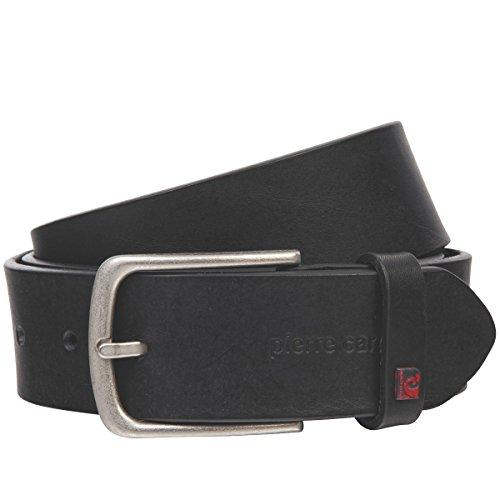 Pierre Cardin Ledergürtel Herren / Gürtel Herren, Vollrind-Ledergürtel mit Kanten-Effekt, schwarz, Größe / Size:100;Farbe / Color:schwarz