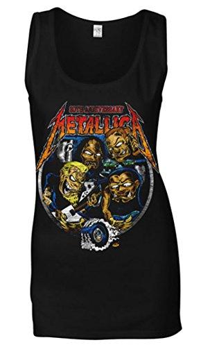 Probity Metallica Fillmore Caricature Black Ladies Vest