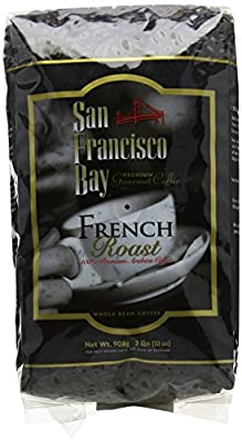 San Francisco Bay French Roast Whole Bean Coffee 908 g by San Francisco Bay