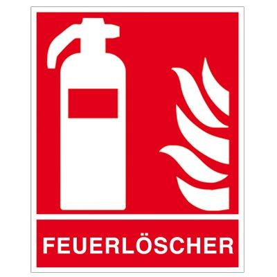 """"""" Feuerlöscher """" Brandschutzzeichen - Brandschutzschild Folie selbstklebend"""