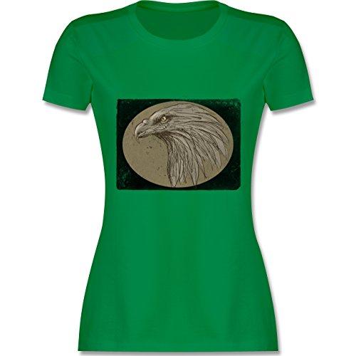 Vintage - Vintage Adler - tailliertes Premium T-Shirt mit Rundhalsausschnitt für Damen Grün