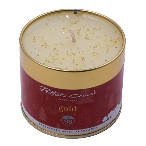 Potters Entre Jambes Doré Bougie parfumée dans boîte en métal