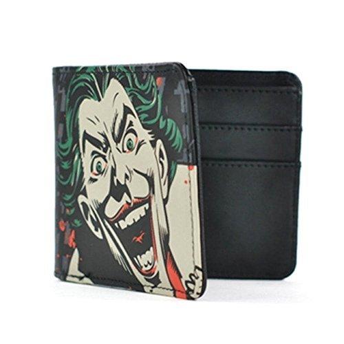 Batman Retro Geldbörse Joker Smile Brieftasche 11,5x9,5x1,5cm