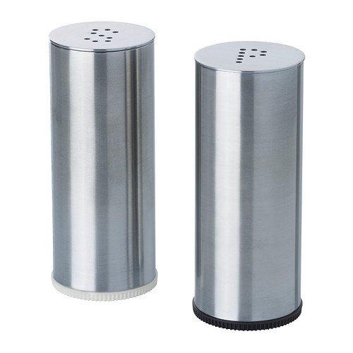 IKEA PLATS - Salt/pepper shaker, set of 2, stainless steel by Ikea