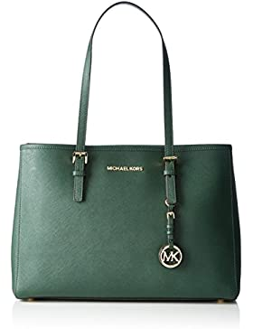 Michael Kors Damen Jet Set Travel Lg Ew Tote, Grün (Forest), 15 x 26 x 37 cm