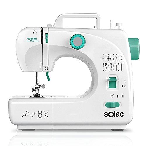 Solac SW8230 Cotton 16.0 Máquina de Coser Mecánica con 16 Puntadas, Blanco