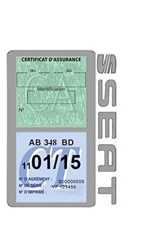 Générique Étui Double Assurance Seat Gris Porte Vignette adhésif Voiture Stickers Auto Retro